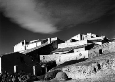 Brett Weston, Stone Buildings Spain  1960