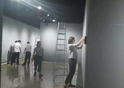 Exhibition setup in Shenzhen Art Museum 深圳美术馆布展中